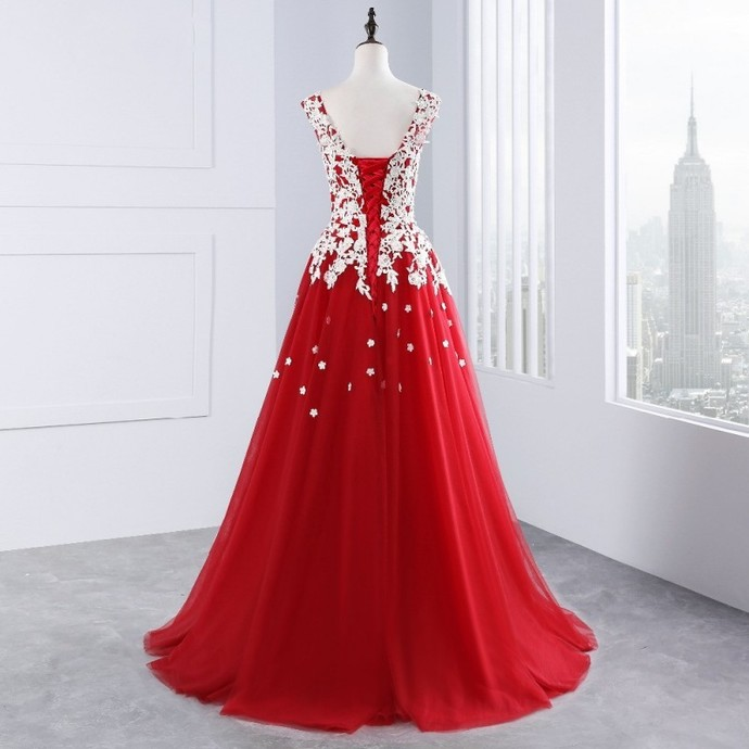Cheap prom dresses 2018,Sexy Tulle Long Prom Dresses