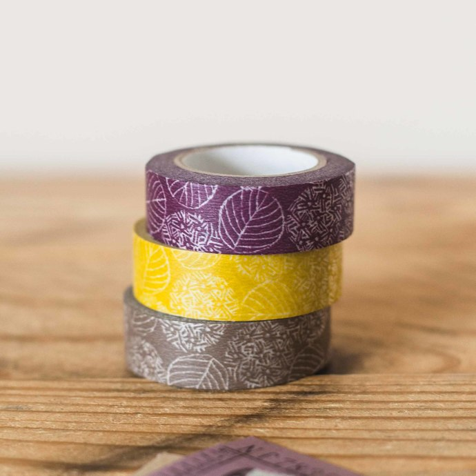 Classiky Hydrangea washi tape - 1.5 cm wide masking tape 10m - perfect for