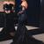 New Elegant Off-the-Shoulder Black Prom Dress, Lace Mermaid Evening Dress, Sexy
