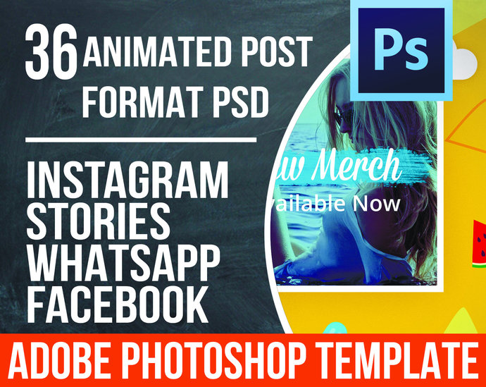 Animated Photoshop Template Instagram Post By Templates On Zibbet - Facebook ad photoshop template
