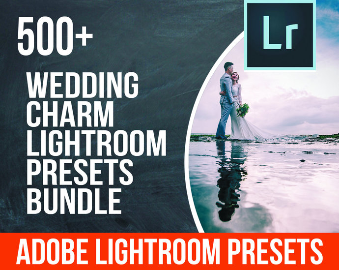 500+ Professional Wedding Charm Lightroom Presets Bundle, Professional Photo