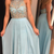 Blue Beading Halter Chiffon Prom Dresses Prom Gowns,Prom Dresses , Cheap Prom
