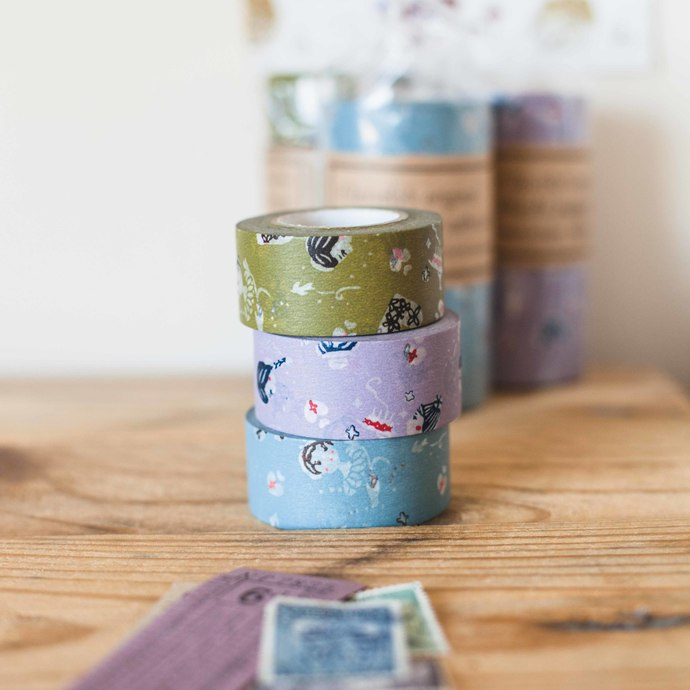 Classiky Girls washi tape - 2.4 cm wide masking tape 15m - perfect for