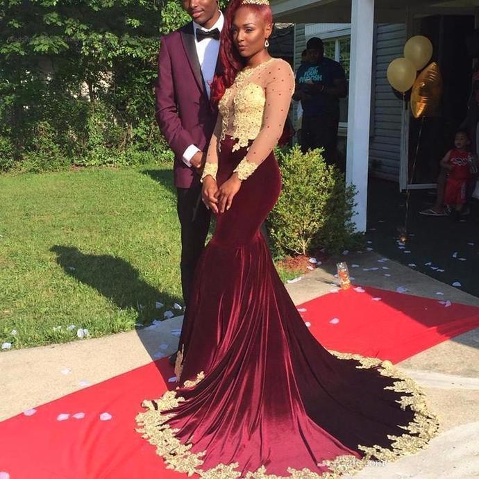 89c2a2da6c8 Gorgeous Appliques Burgundy Prom by prom dresses on Zibbet