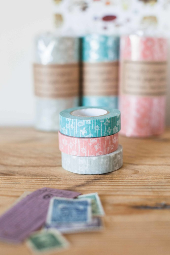 Classiky Small Flower washi tape - 1.5 cm wide masking tape 15m - perfect for