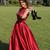Burgundy Lace Satin Sexy Prom Dress,Long Evening Dress,Evening Dress,Sweet 16