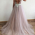 Charming Deep V-Neck Beaded Ball Gown Backless Prom Dress,Long Evening