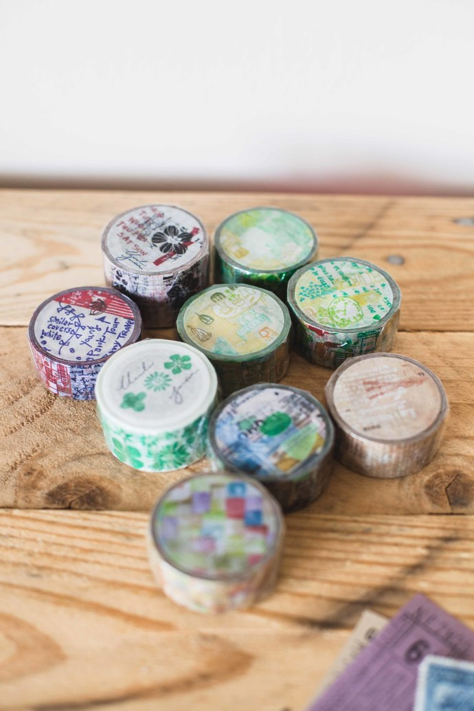 Chamil Garden washi tapes - masking tape 10m - perfect for journaling & happy