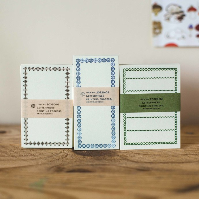 Classiky letterpress note cards - perfect for journaling & happy mail -CLC-