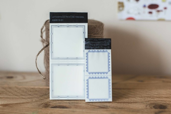 Classiky letterpress label book - perfect for journaling & happy mail -CLB-
