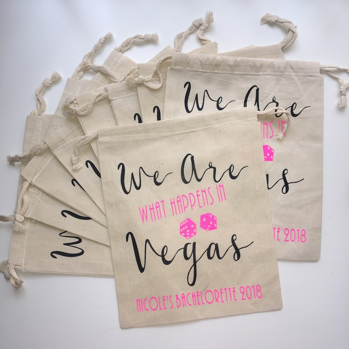 We are what happens in vegas, Personalized Hangover Kit, Bachelorette Party Bag,