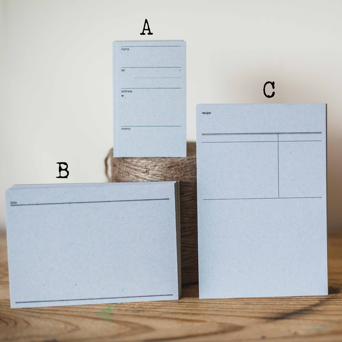 Classiky address, diary and recipe note cards - perfect for journaling & happy