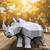 Make your own papercraft rhinoceros | DIY 3D paper sculpture | Printable PDF