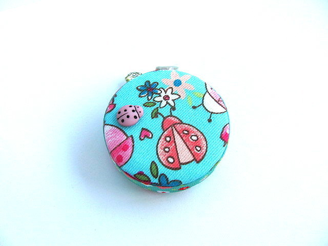 Tape Measure with Pink Ladybugs Retractable Measuring Tape