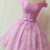 Pink Homecoming Dress,Tulle Prom Gown,Appliques Prom Dress,Off the Shoulder