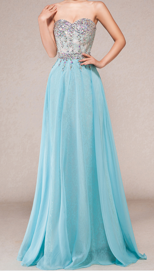 b950cddf6a1 New Elegant Exquisite Sky Blue Prom by prom dresses on Zibbet