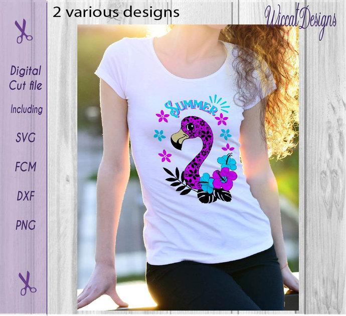 Doodle Flamingo svg, flamingo svg, summer svg, pink flamingo svg, girl svg,