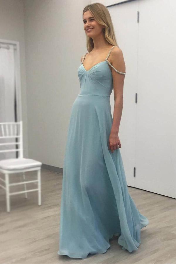d35ec276b02 Simple Chiffon Prom Dresses