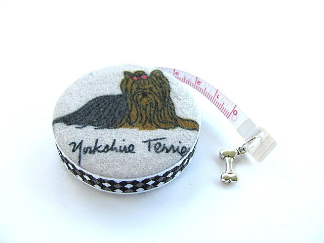 Tape Measure Yorkshire Terrier Yorkie Dogs Retractable Pocket Measuring Tape