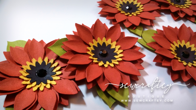 Handmade autumn sunflower paper flowers by sewcraftey on zibbet handmade autumn sunflower paper flowers dimensional flowers wedding flowers mightylinksfo