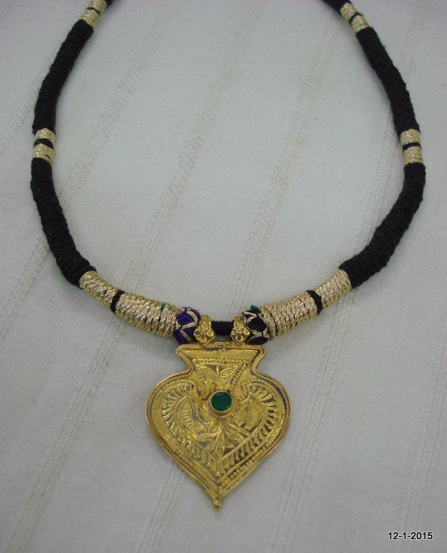vintage antique tribal old 20k gold pendant by tribalsilver on Zibbet