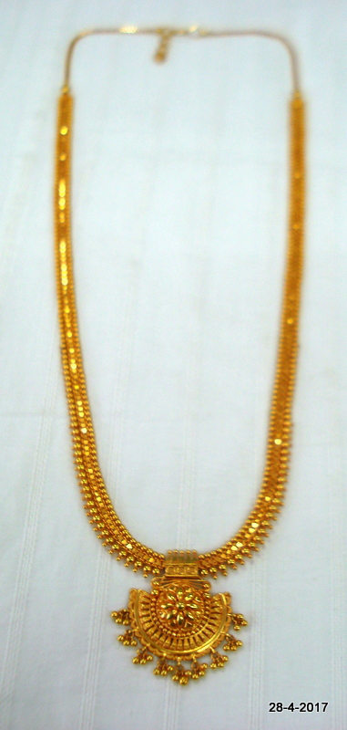 vintage antique 20kt gold necklace long necklace chain handmade