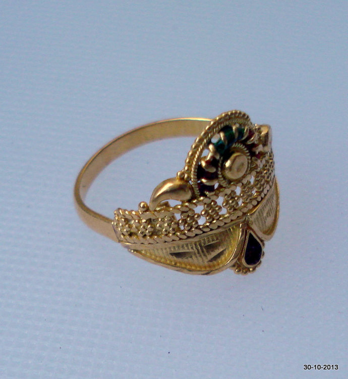 vintage 20k gold ring handmade gold jewelry by tribalsilver on Zibbet
