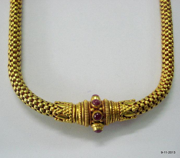 20k gold chain necklace choker vintage by tribalsilver on Zibbet