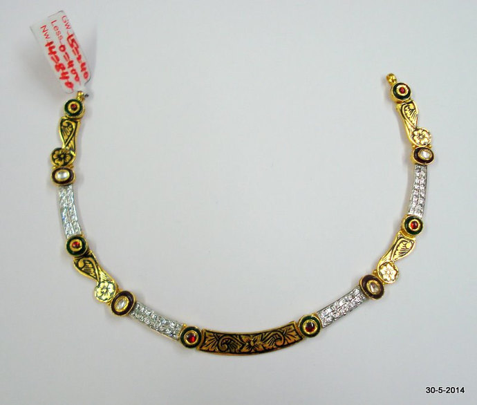ethnic 22k gold necklace choker handmade gold by tribalsilver on