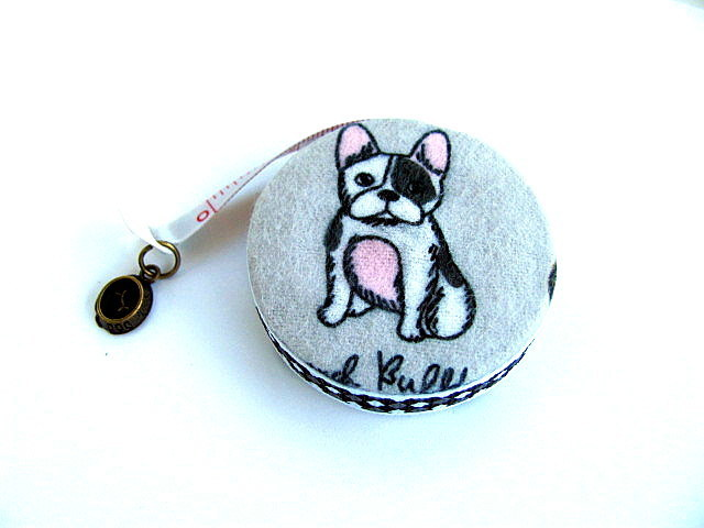 Measuring Tape with French Bull Dogs Retractable Tape Measure