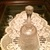 1980s Fenton #9660 Craftsman Bell in Crystal Velvet Carnival Frosted Glass