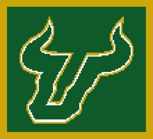 University of South Florida Bulls Crochet Pattern  (Graph, SC, C2C, Tunisian,