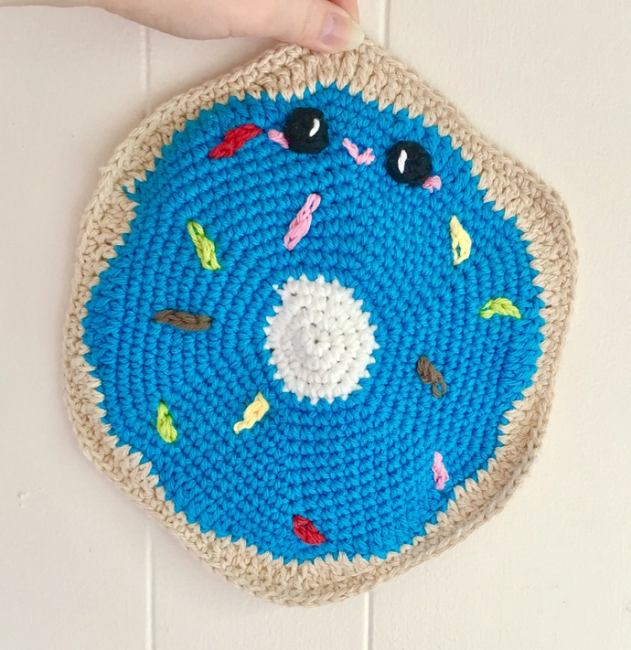 READY TO SHIP Kawaii Donut Hot Pad - Crocheted, Amigurumi