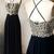Fashion A-Line Prom Dress,Spaghetti Straps Black Prom Dresses,Long Prom Dress