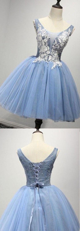 O-Neck Appliques A-Line Homecoming Dresses,Short Prom Dresses,Cheap Homecoming