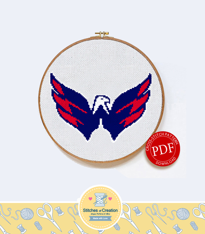 Washington Capitals | Digital Download | Sports Cross Stitch Pattern |