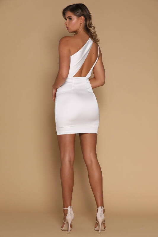 White Short Mermaid Prom Dress, Sexy White Homecoming Dress, Sexy White Cocktail