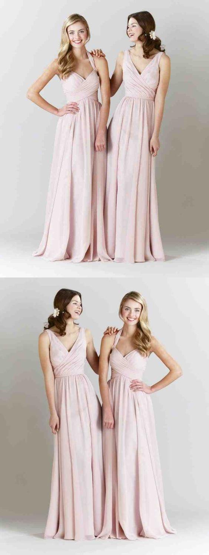 901afc6f5930 Chiffon Bridesmaid Dresses Blush - raveitsafe