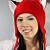 RED FOX fleece aviator hat cosplay NARUTO anime