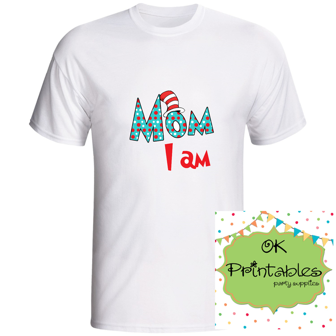 MOM I AM - Printable Iron On -Clip Art - DIY Disney Shirt - Iron On Transfer DIY