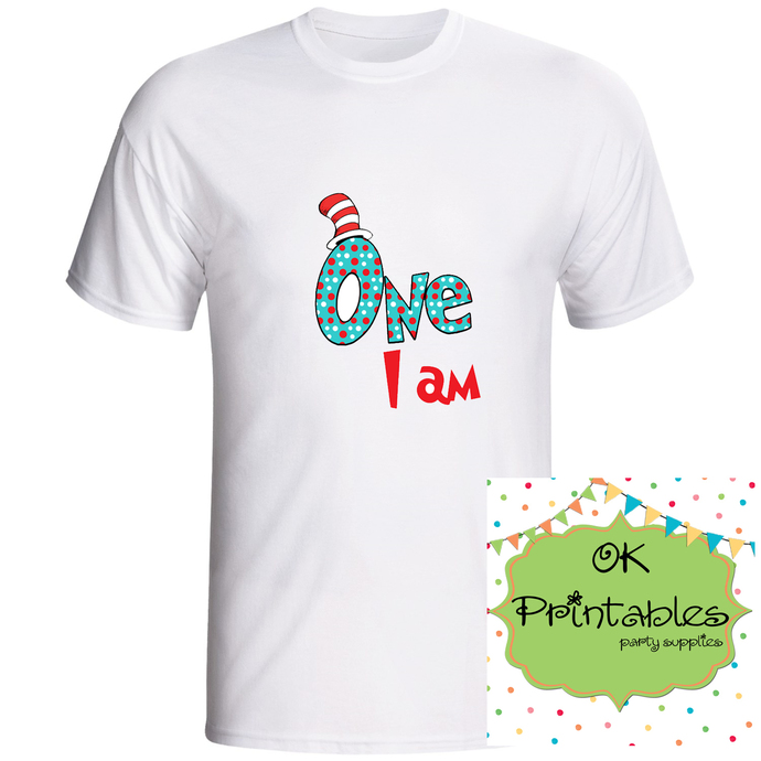 ONE I AM - Printable Iron On -Clip Art - DIY Disney Shirt - Iron On Transfer DIY