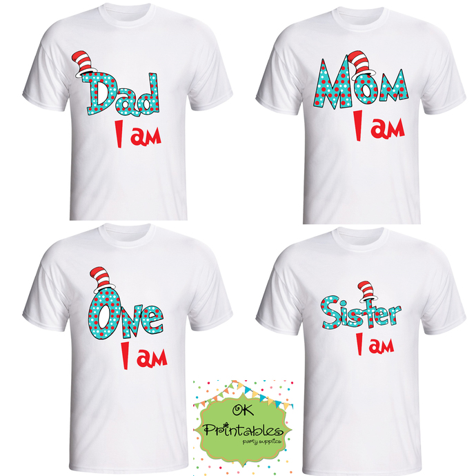 DAD I Am, MOM I Am, ONE I Am, SISTER I Am- Printable Iron On - DIY Disney Shirt