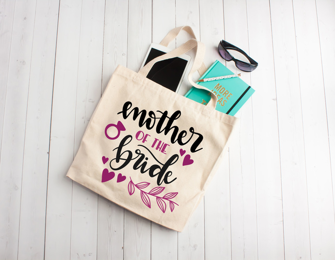 Mother of the Bride, mother of the bride gifts, mother of the bride tote bag,