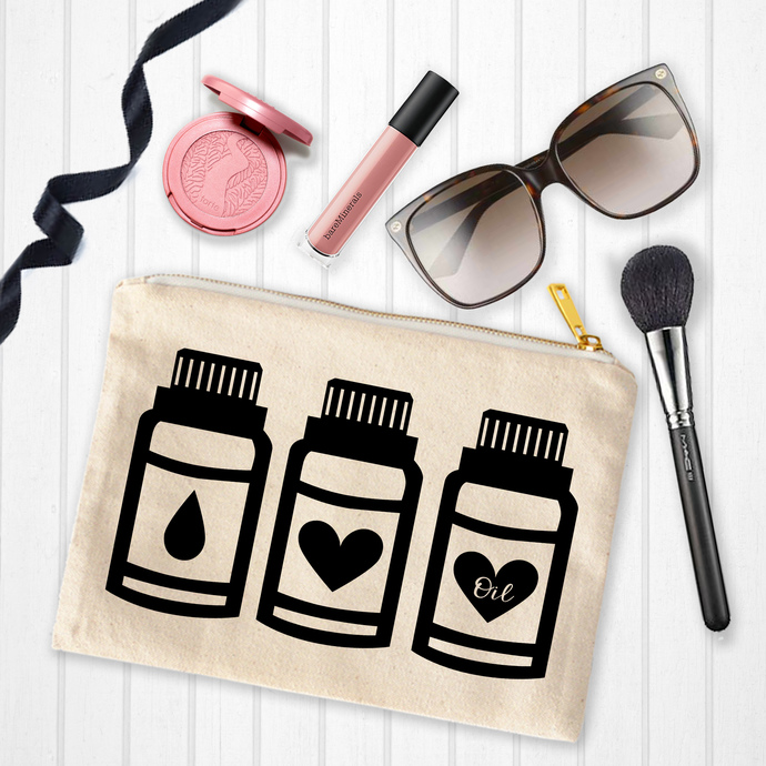 Essential oil bags, Makeup Bags with sayings, personalized toiletry bag, custom