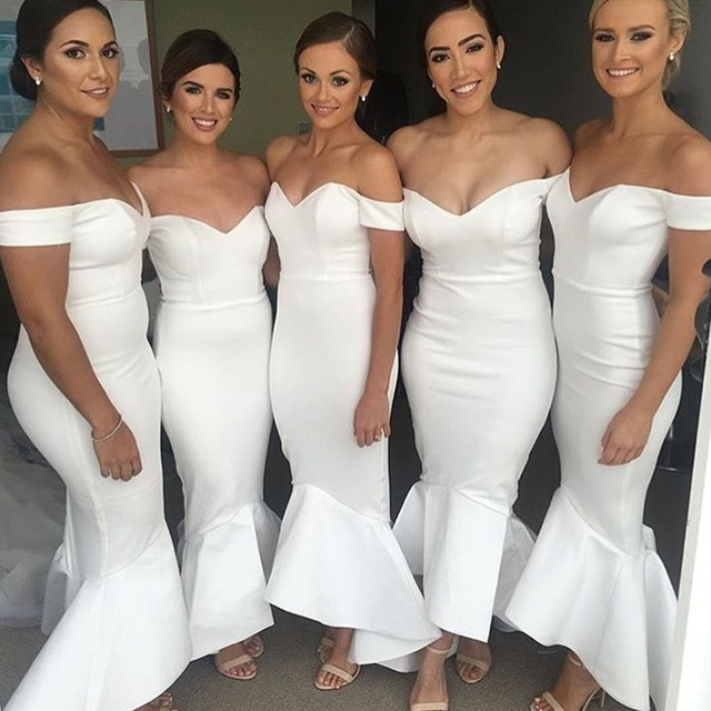 Sexy Mermaid Evening Dress, Sexy Off Shoulder Long Bridesmaid Dress