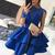 H53 Royal Blue Long Sleeve Pretty Short/Mini Homecoming Dress Pretty A-Line