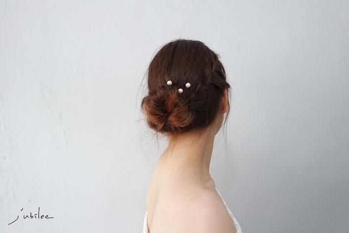 Classic Pearl1 Bridal Pins Hair Pins Hair Jewelry Freshwater Bridal