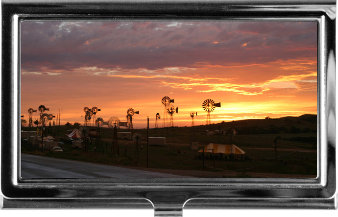 Business Card Holder-sunset