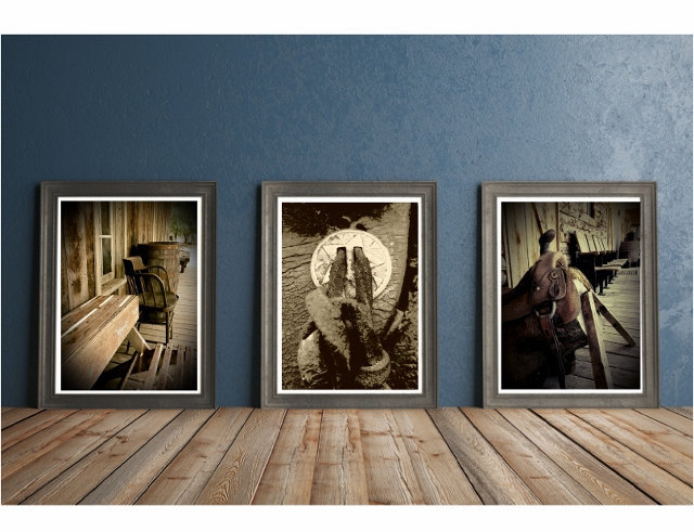 Nature photography print set, western wall art, modern rustic, modern farmhouse,