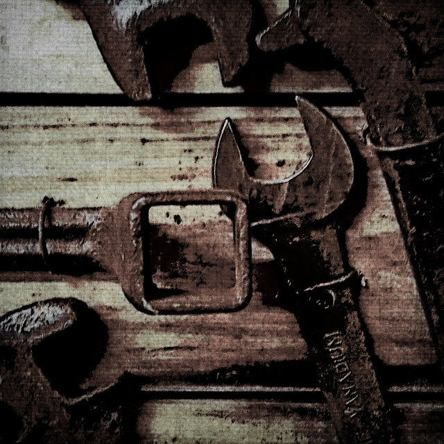 Industrial photography, modern farmhouse, old metal tools, gift for a guy, home
